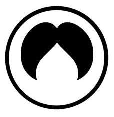 Dette ikon viser et stort og kraftigt overskæg