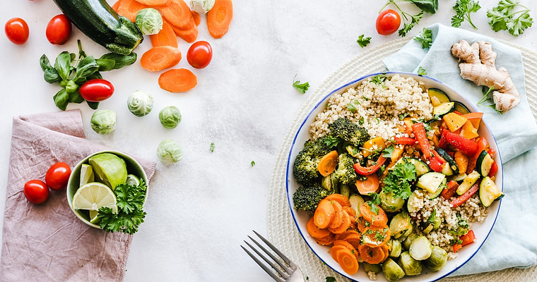 Billede af sund og grøn mad - Ny livsstil og vægttab