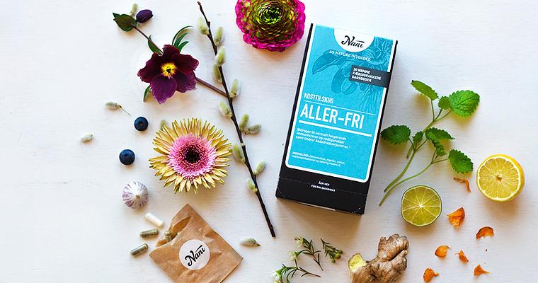 Billede af blomster og kurpakken Aller-fri til pollensæsonen