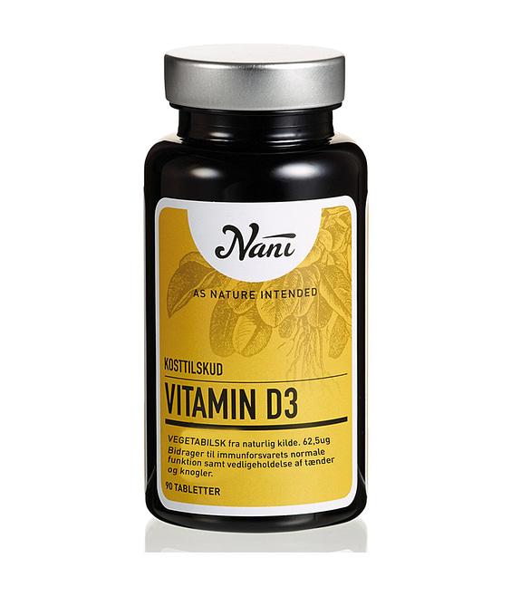 Nani Vitamin D3 kosttilskud på glas